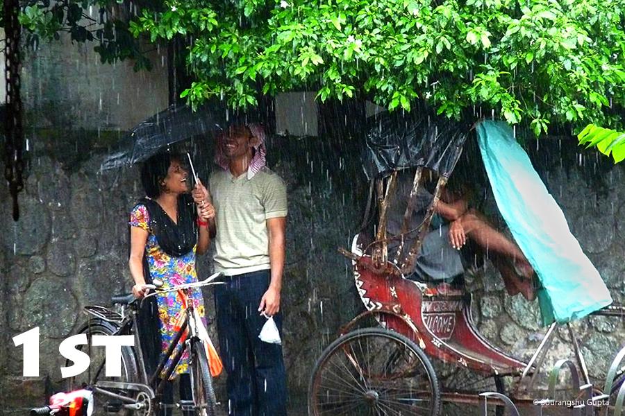 City in Rain