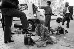 Sagar, 9, and Pooja, 8 , Shoe Polishers, Dilli Haat.