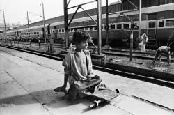 Munna, 12, Begger, New Delhi Railway Station.